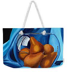 Pear Anyone Weekender Tote Bag by Laura Forde
