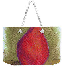 Weekender Tote Bag featuring the pastel Pear Study 3 by Marna Edwards Flavell