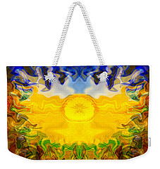 Weekender Tote Bag featuring the painting Pearlescent  by Omaste Witkowski