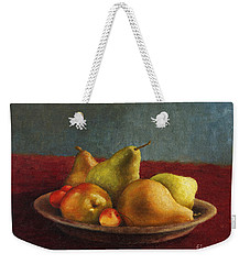 Pears And Cherries Weekender Tote Bag