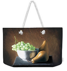 Pears And Grapes Weekender Tote Bag