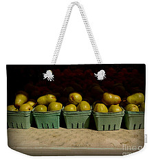 Sunny Green Pears At The Fair Weekender Tote Bag by Miriam Danar