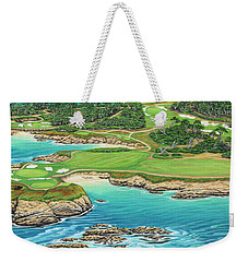 Pebble Beach 15th Hole-south Weekender Tote Bag