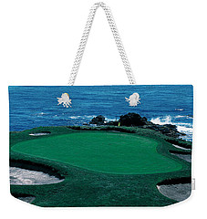 Pebble Beach Golf Course 8th Green Weekender Tote Bag