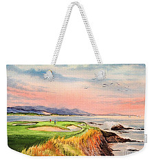 Pebble Beach Golf Course Hole 7 Weekender Tote Bag