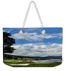 Pebble Beach - The 18th Hole Weekender Tote Bag by Judy Vincent