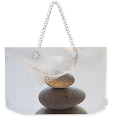 Pebble Pile Weekender Tote Bag by Jan Bickerton
