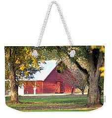 Weekender Tote Bag featuring the photograph Pecan Orchard Barn by Gordon Elwell