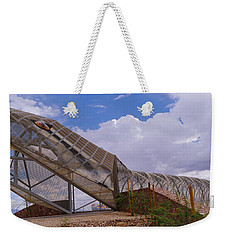 Pedestrian Bridge Over A River, Snake Weekender Tote Bag