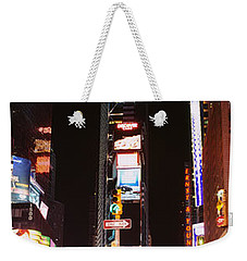 Pedestrians Waiting For Crossing Road Weekender Tote Bag by Panoramic Images