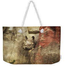 Peek A Boo Rhino Weekender Tote Bag by Thomas Woolworth