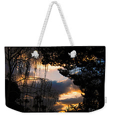 Peek A Boo Sunset Weekender Tote Bag by Janice Westerberg