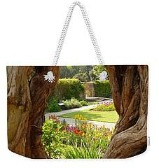 Peek At The Garden Weekender Tote Bag by Vicki Spindler