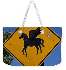Pegasus Road Sign Weekender Tote Bag