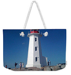 Peggy's Cove Lighthouse Weekender Tote Bag by Brenda Brown