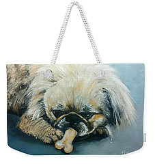 Pekinese And The Bone Weekender Tote Bag