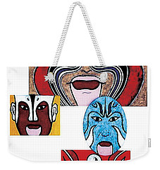 Weekender Tote Bag featuring the painting Peking Opera No.1 by Fei A