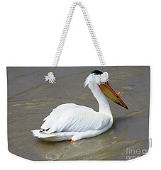 Pelecanus Eerythrorhynchos Weekender Tote Bag by Alyce Taylor