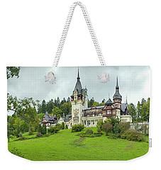 Peles Castle In The Carpathian Weekender Tote Bag