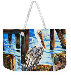 Pelican And Pilings Weekender Tote Bag