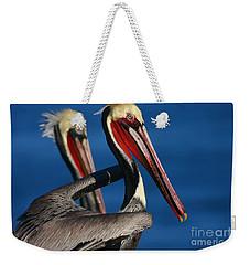 La Jolla Pelicans In Waves Weekender Tote Bag