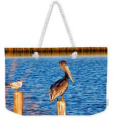 Pelican On A Pole Weekender Tote Bag