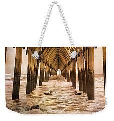 Pelican Paradise Weekender Tote Bag by Betsy Knapp