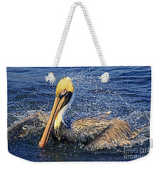 Showering Pelican Weekender Tote Bag