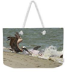 Pelican Steals The Fish Weekender Tote Bag