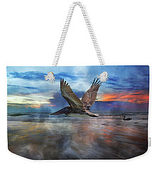 Pelican Sunrise Weekender Tote Bag by Betsy Knapp