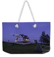 Pemaquid Point Light - Blue Hour Weekender Tote Bag