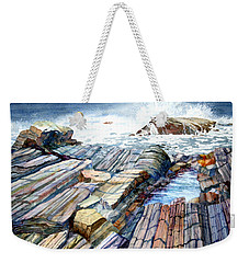 Pemaquid Rocks Weekender Tote Bag