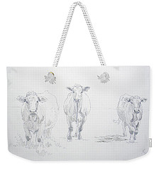 Pencil Drawing Of Three Cows Weekender Tote Bag