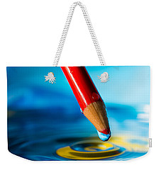 Pencil Water Drop Weekender Tote Bag