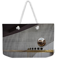 Weekender Tote Bag featuring the photograph Pendulum Sculpture by Patricia Babbitt