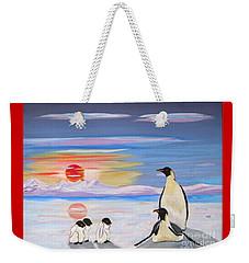 Penguin Family Weekender Tote Bag by Phyllis Kaltenbach