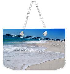 Weekender Tote Bag featuring the photograph Pensacola Peir by Linda Mesibov