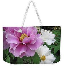 Peonies In White And Lavender Weekender Tote Bag