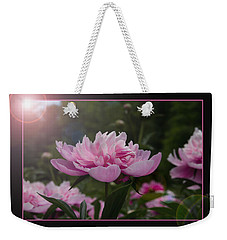 Peony Garden Sun Flare Weekender Tote Bag by Patti Deters