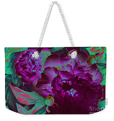 Peony Passion Weekender Tote Bag by First Star Art
