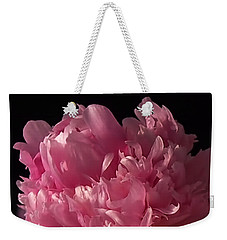 Weekender Tote Bag featuring the photograph Peony by Rona Black