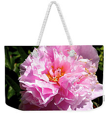 Weekender Tote Bag featuring the photograph Peony by Sher Nasser