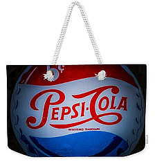 Pepsi Cap Sign Weekender Tote Bag by Mitch Shindelbower