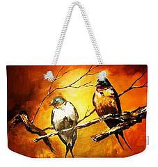 Perched Swallows Weekender Tote Bag