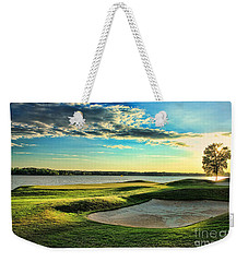 Perfect Golf Sunset Weekender Tote Bag by Reid Callaway