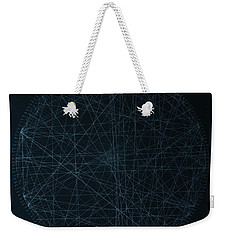 Weekender Tote Bag featuring the drawing Perfect Square by Jason Padgett