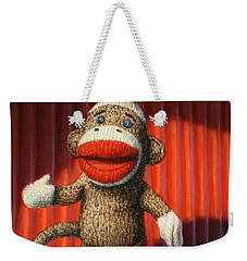 Performing Sock Monkey Weekender Tote Bag