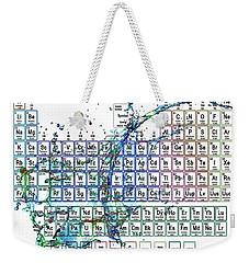 Periodic Table Colorful Liquid Splash Weekender Tote Bag