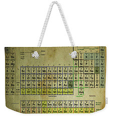 Weekender Tote Bag featuring the mixed media Periodic Table Of Elements by Brian Reaves