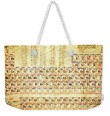 Periodic Table Of The Elements Vintage White Frame Weekender Tote Bag